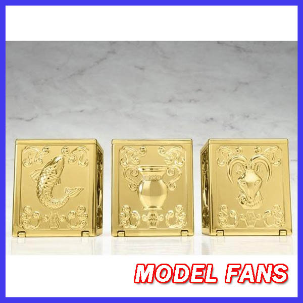 ФОТО MODEL FANS IN-STOCK  Free shipping DT gold saint Seiya Metal Pandora box VOL4 Capricorn Aquarius Pisces