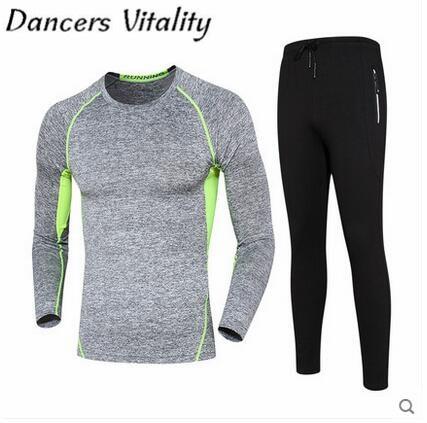 2017 Running Men Compression Sports Suit Men's Sportswear Basketball Fitness Training Running Jogging Suit for Mens Sport Set