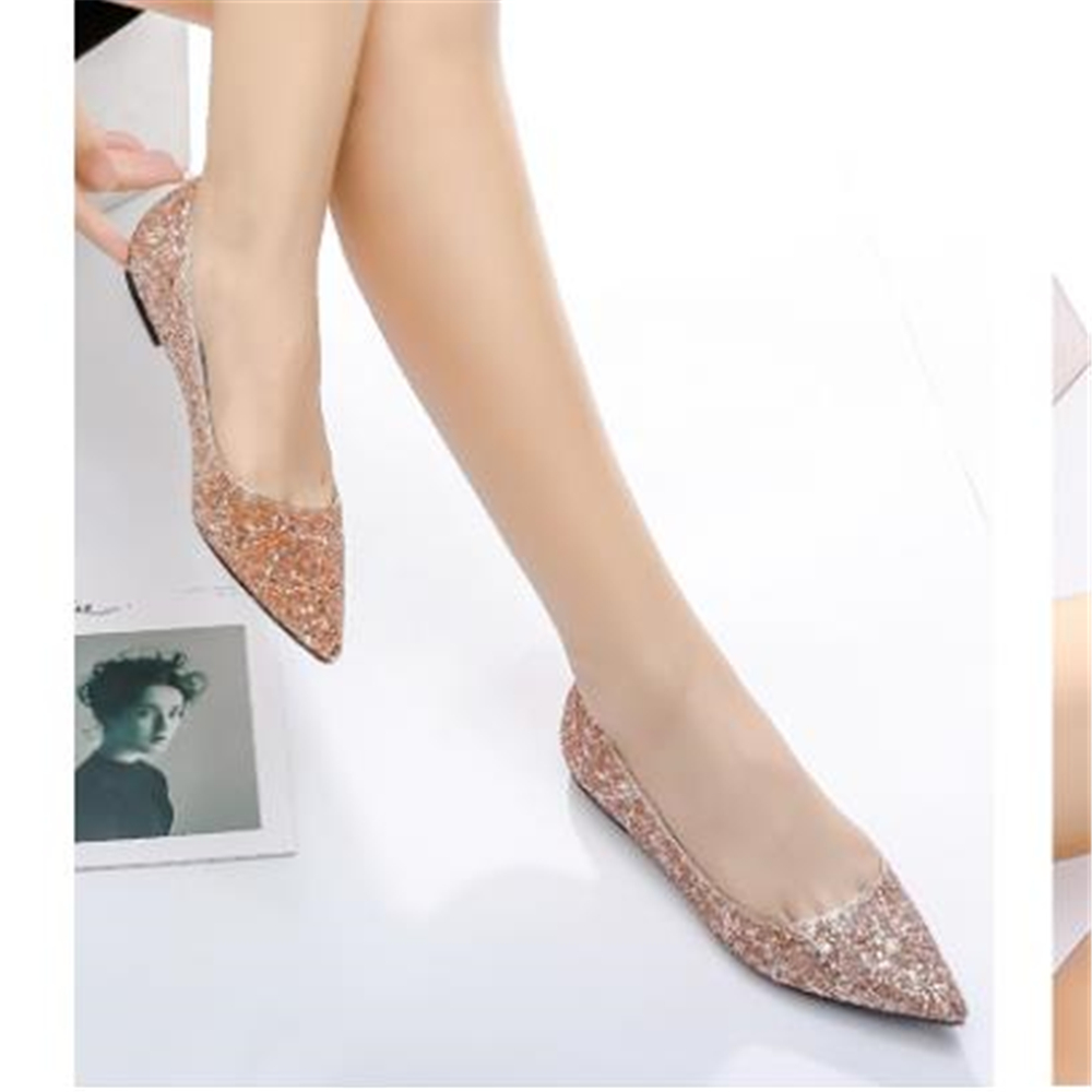 2018 ms popular style flats European designer shoes contracted leisure sequined Women's shoes