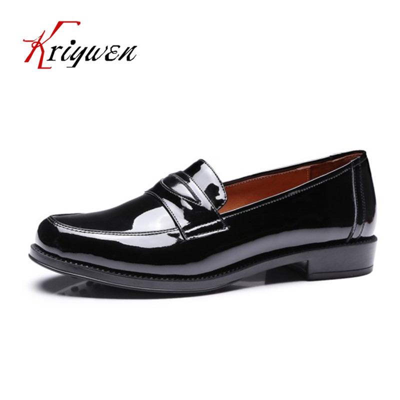 Spring new flats genuine leather Women british style rome solid round toe shoes for dress cow leather woman leisure oxfords flat qmn women genuine leather flats women square toe brogue shoes woman typical british style real leather oxfords 34 40