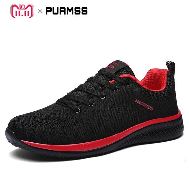 2018 ใหม่ตาข่ายรองเท้า Lac - up รองเท้าผู้ชายน้ำหนักเบาสบาย Breathable เดินรองเท้าผ้าใบ Tenis Feminino Zapatos