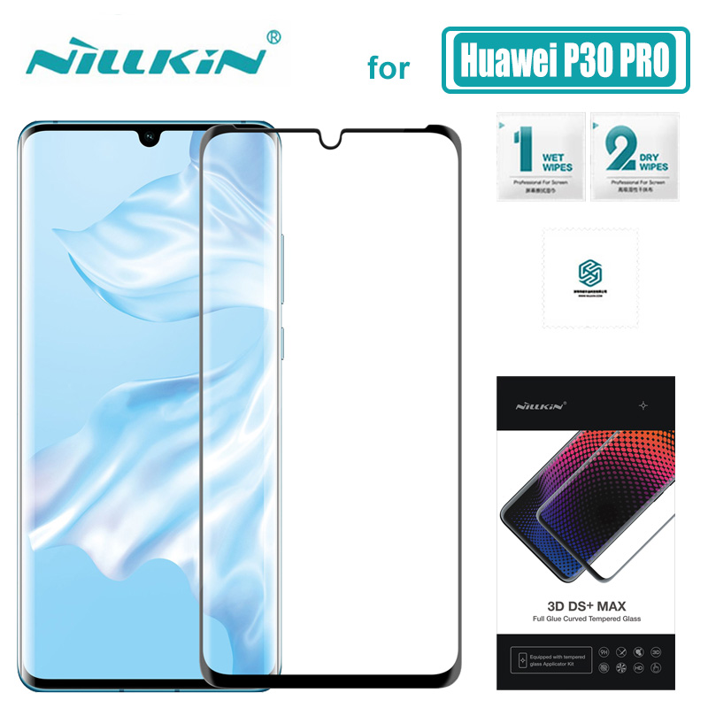 Huawei P30 PRO Glass 3D DS+ Max Full Cover Tempered Glass Screen Protector 9D Round Edge for Huawei P30 PRO Nilkin HD Glass Film|Phone Screen Protectors| |  - title=