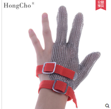 3 finger Cut Resistant Gloves Anti Cut Food Grade Level 5 Kitchen Butcher Protection three finger glove