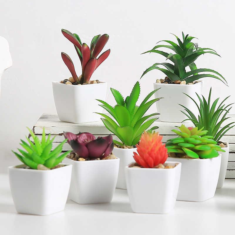 Yumai Mini Cactus Succulent Bonsai Fake Potted For Desk Decor Plants Artificial Succulents With Pot Home Decoration Accessories Artificial Plants Aliexpress