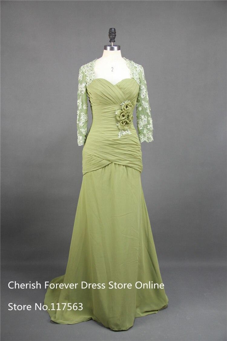 Evening dress bolero grass