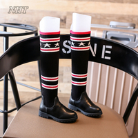 Fashion Princess Mid Calf Boots For Girls Stylish Dress Party Booties Fille Children Shoes Kids Thigh