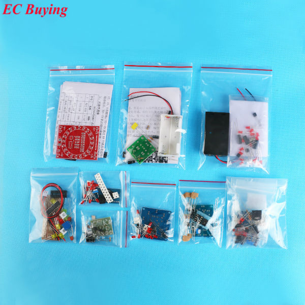Electronic DIY Kit SMD SMT Components Welding Practice Board Soldering Skill Training Beginner Electronic Kit for Self-Assembly
