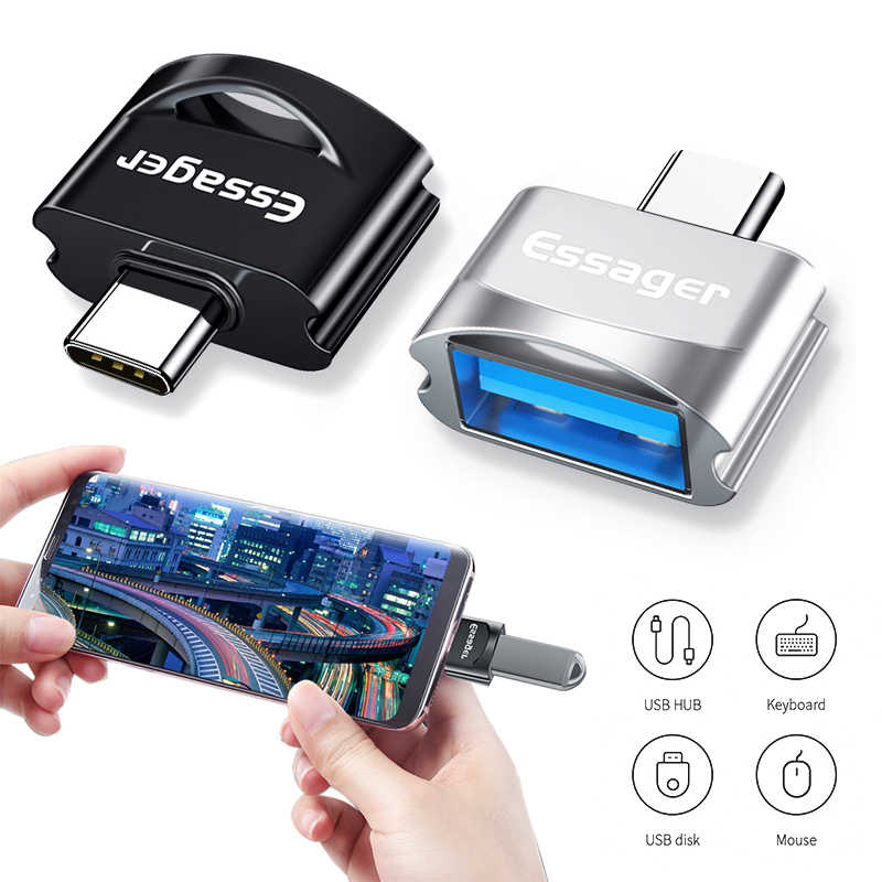 Essager USB Type C OTG Adapter For Samsung S10 Xiaomi mi 9 Oneplus 7 Pro 6t USBC Connector USB-C Type-C To USB 3.0 OTG Converter