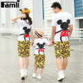 Famli 1pc Family T-shirts Father Son Mother Daughter Look Clothes Sets Summer Short Sleeve Fashion Character Cotton T-Shirts