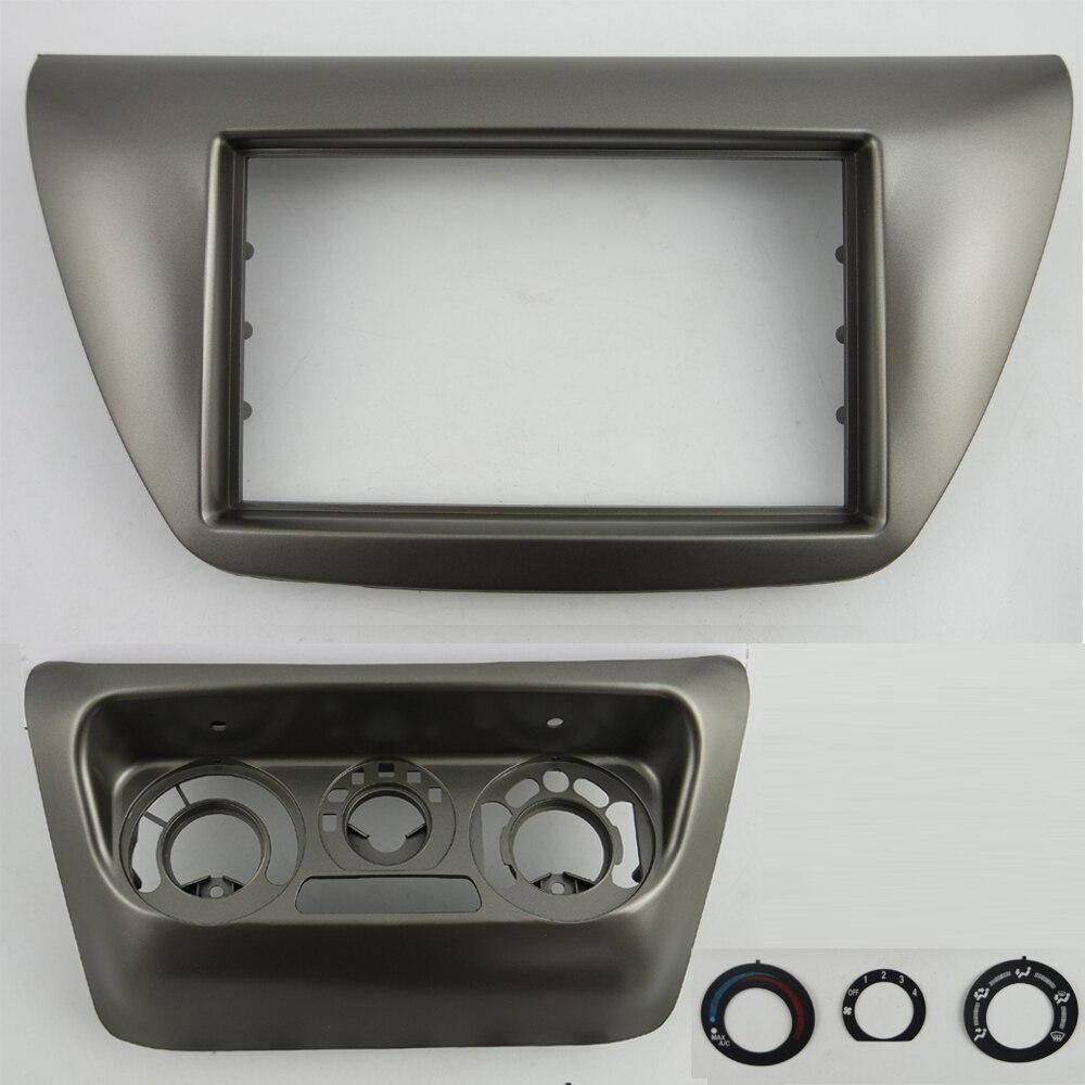 Toyota yaris 2003 à 2005 simple ou double din noir fascia panneau avant kit d/'adaptateur
