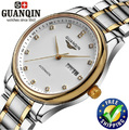 Guaranteed! GUANQIN new men's automatic watch waterproof sapphire fashion diamond wristwatch hours Luxury watches men brand