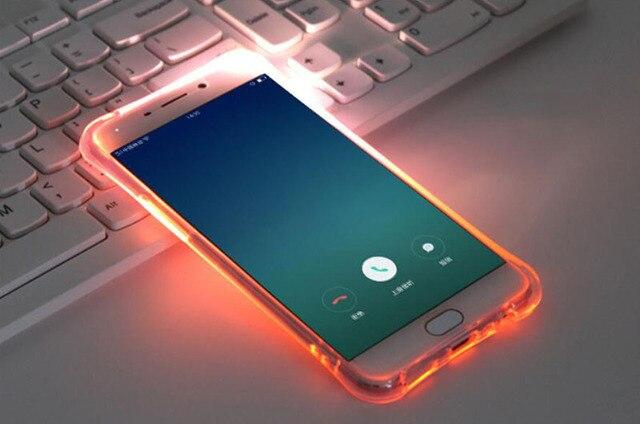 Iphone X Border Wallpaper Luxury Soft Tpu Led Flash Light Up Case Remind Incoming