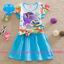 flags 5pcs/lot 2015 New baby girls my little – pony Fashion princess flower dress summer Legging casual for kids children Q9106#
