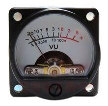 2ชิ้นแผงVUเมตรอุ่นกลับแสงตัวชี้วัดระดับเสียงสำหรับลำโพงเครื่องขยายเสียง