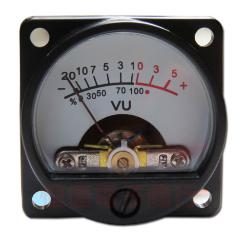 2 uds. Medidor de VU con Panel luz trasera cálida, indicador de nivel de Audio para amplificador de altavoces