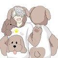 Anime de yuri en ice poodle capa del algodón con capucha sudaderas victor katsuki yur cosplay traje nuevo estilo de japón del envío libre
