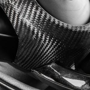 Image 3 - carbon fiber Modification Accessories Steering wheel center decoration car styling For MINI COOPER Clubman S F54 F55 F56 F57 F60