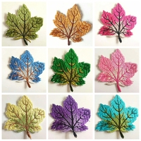 Maple Leaf Iron On Patch Sewing On Embroidered Applique Sewing Patch Clothes Stickers DIY Apparel Accessories