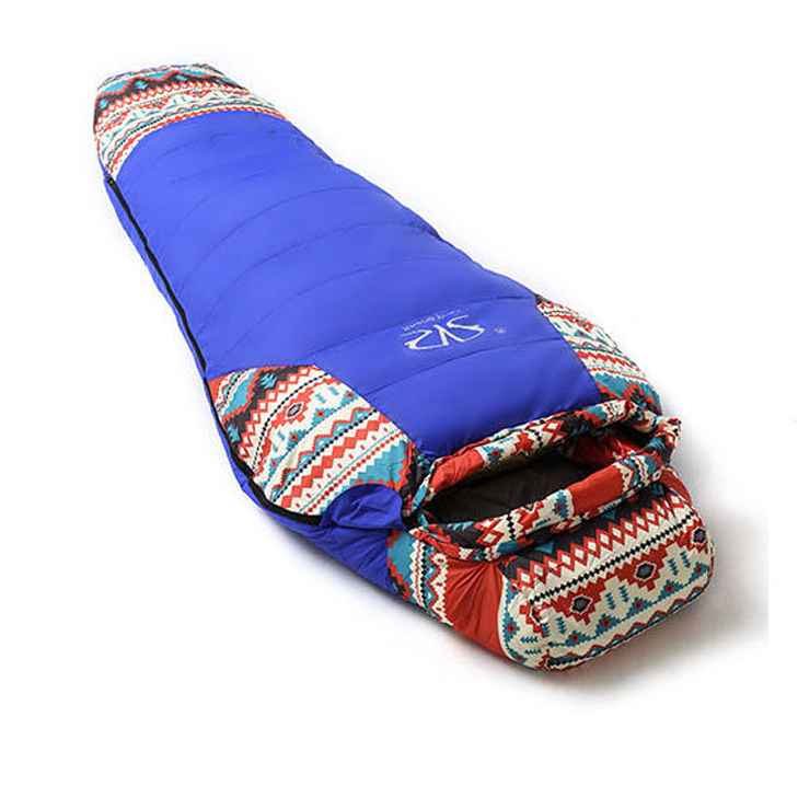 Ethnic flavor Duck Down Sport Hiking Sleeping Bags Outdoor Winter Camping Duck Down Adult Mummy Waterproof Sleeping Bags gazelle duck down winter camping adult sleeping bag waterproof three seasons spring autumn winter sleeping gazelle sb13
