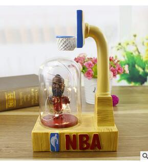 Basketball star resin LED stars resin little night light star lamp new unique personality crafts statue home decoration