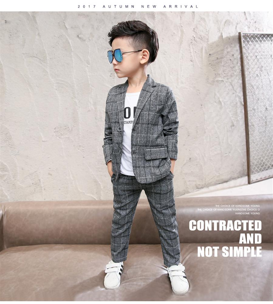 Boys Suits 2018 New Style Kids Clothes Set Wedding Clothes Tops+Pants 2 Pieces Suit Fashion Outfits Children clothing 2017 new boys clothing set camouflage 3 9t boy sports suits kids clothes suit cotton boys tracksuit teenage costume long sleeve