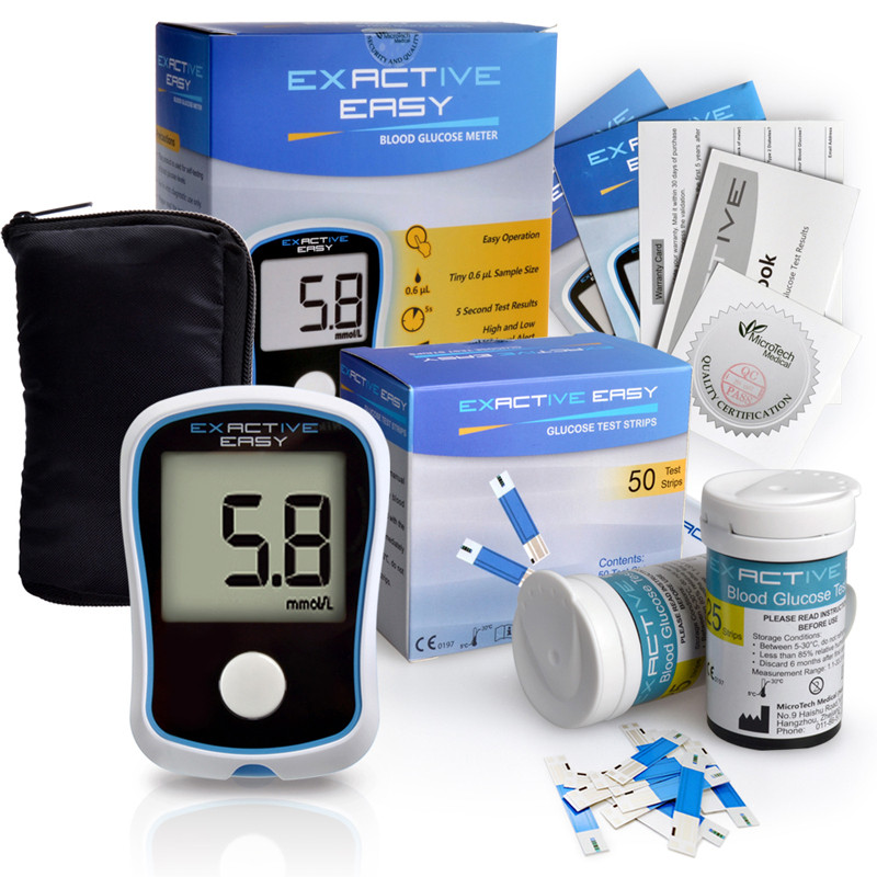 High Quality CE FDA Blood Glucose Meters Monitor Blood Sugar Diabetics Test glycuresis Monitor  50 strips+50 Needles high quantity medicine detection type blood and marrow test slides