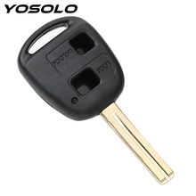 2 Buttons Blank Car Key Shell Replacement Key Fob Case Auto Replacement Parts Remote For TOYOTA CAMRY RAV4 Corolla PRADO YARIS