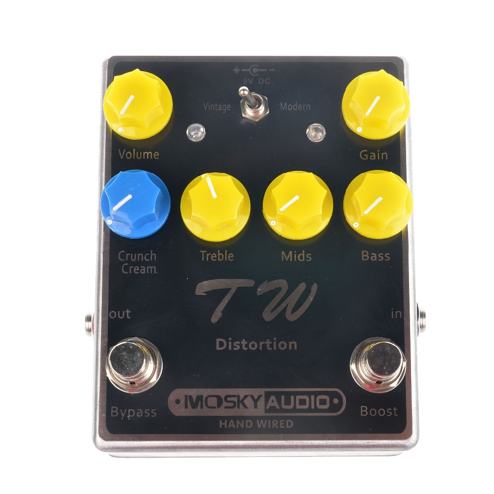 Фотография Mosky TW Distortion Guitar Effect Pedal High-quality with Capacitors/Resistors/IC Three Band EQ Effects