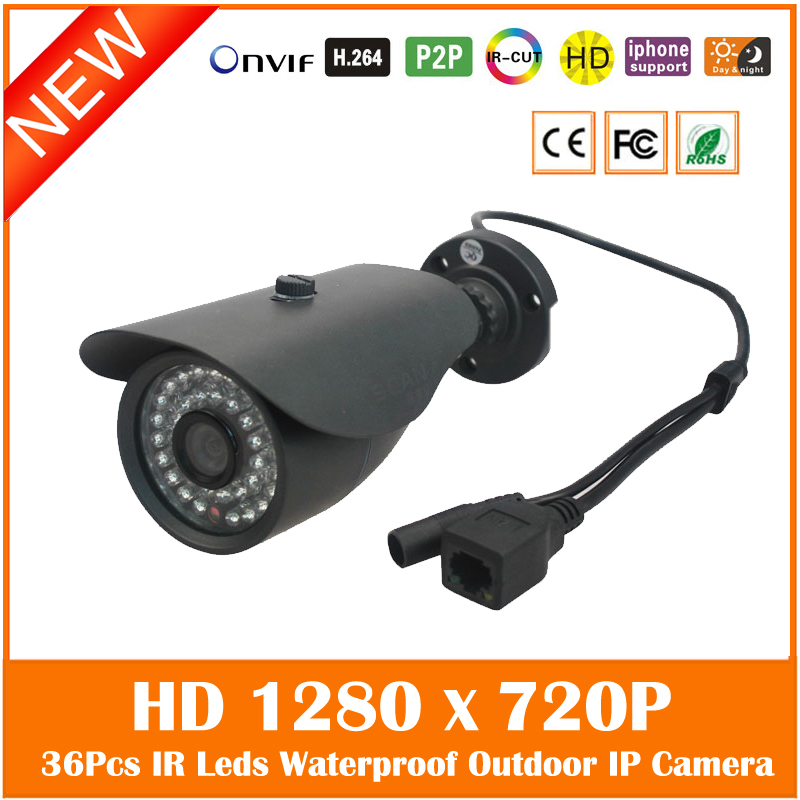 Bullet Ip Camera Hd 720p Outdoor Waterproof Home Security Metal Black Motion Detect Webcam Night Vision Freeshipping Hot Sale hot selling outdoor waterproof telecamera ir night vision security camera 2 8 3 6 4 6 8 12mm lens 720p hd ip bullet webcam j569b