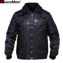 MAGCOMSEN Military Tactical Jackets Men Winter Cotton Warm Pilot Bomber Jackets Thermal Windbreakers Outwear for Man AG-DSW-01(China)