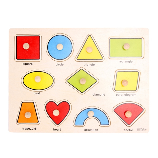 33cm Kid Early Educational Toys Baby Hand Grasp Wooden Puzzle
