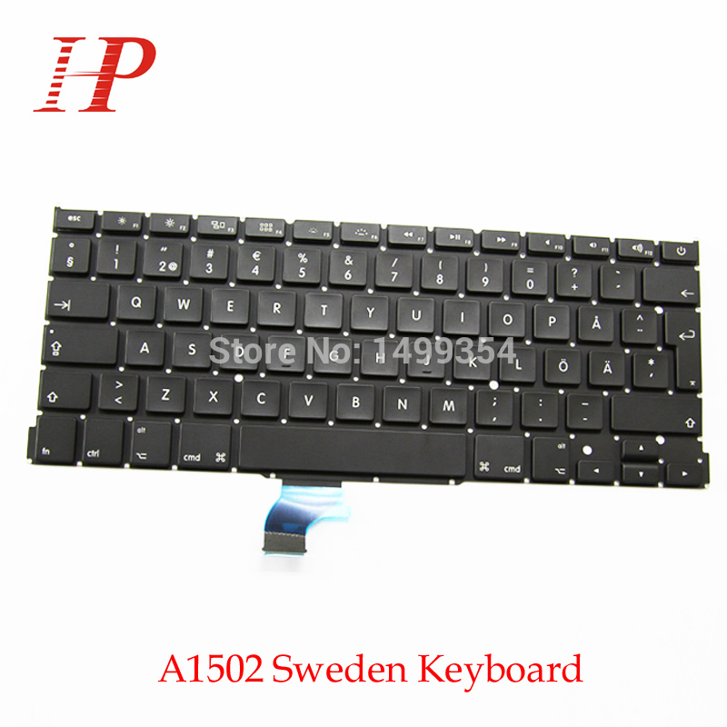 5PCS For Macbook Pro Retina 13 A1502 Swedish Swenden SD Keyboard 2013 2014 2015 Year image