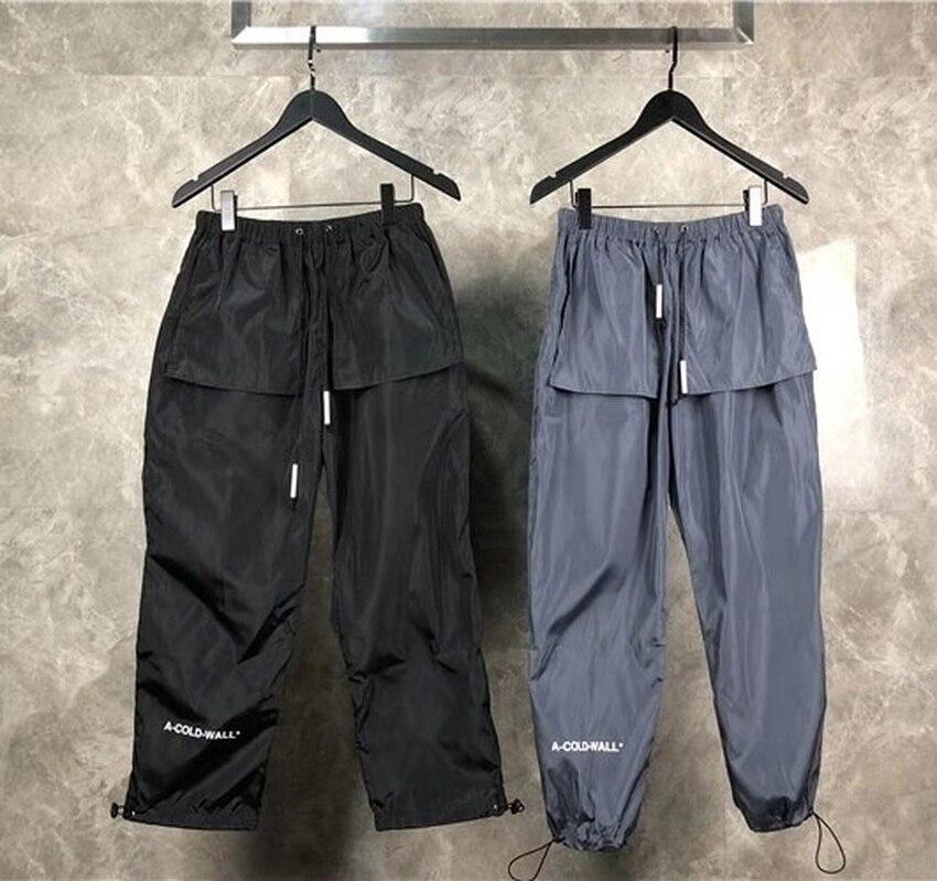 A-COLD-WALL ACW Pantalon Hommes Femmes Streetwear Harajuku Élastique Ceinture décontracté Sport Pantalon Lâche Joggers Pantalon A-COLD-WALL Pantalon