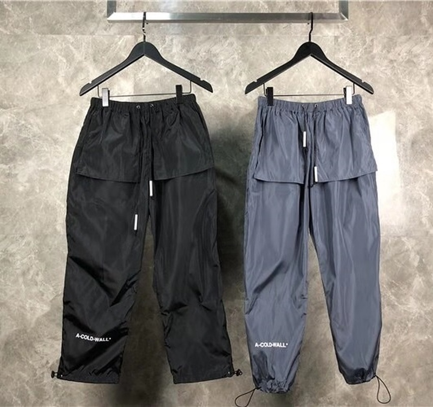 A-COLD-WALL ACW Pants Men Women Streetwear Harajuku Elastic Belt Casual Sports Pants Loose Joggers Trousers A-COLD-WALL Pants