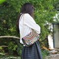 Chinese Ethnic National embroidery bags Vintage Hmong Tribal Thai Indian Boho embroidered shoulder messenger bag