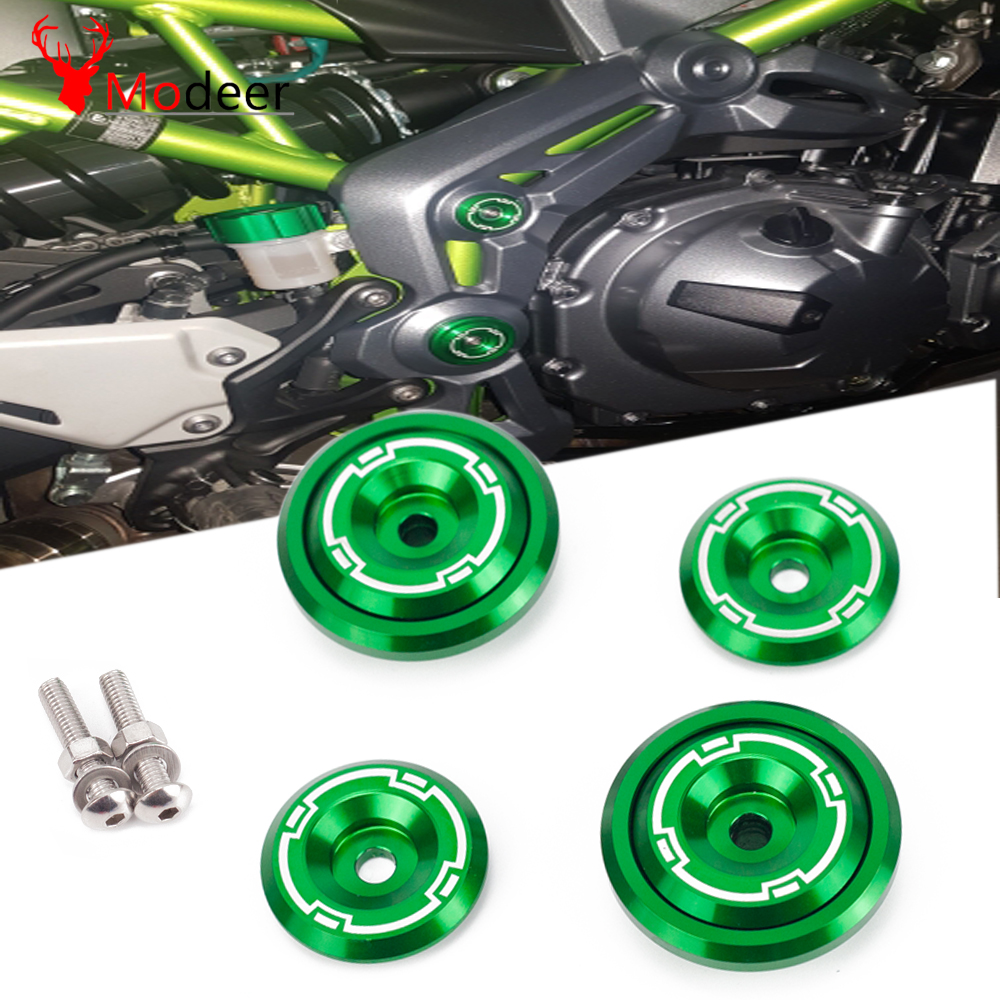 <font><b>Z900</b></font> Motorcycle CNC Aluminum Frame Hole Cap Cover With Screws 5M Fairing Guard For <font><b>Kawasaki</b></font> <font><b>Z900</b></font> Z 900 2017 2018 <font><b>2019</b></font> Green image