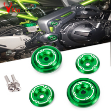 Z900 Motorcycle CNC Aluminum Frame Hole Cap Cover With Screws 5M Fairing Guard For Kawasaki Z900 Z 900 2017 2018 2019 Green цены
