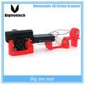 Frete grátis scanner de Scanner 3D 3D tridimensional simples barato scanner de varredura a laser fácil de usar DIY 3D kit câmera principal