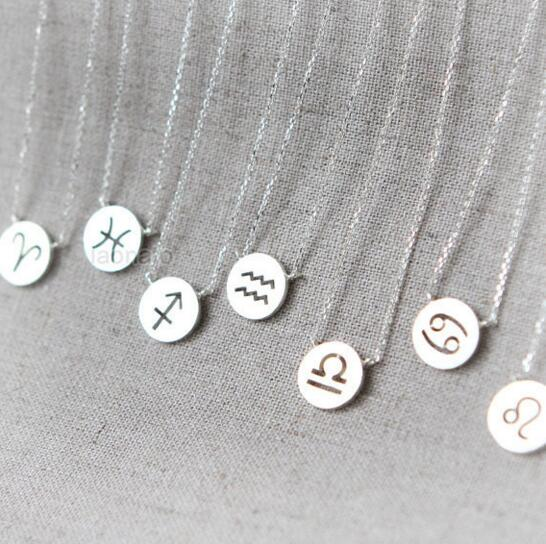Brilliant Daisies One Piece Pendant Necklace Zodiac Sign Constellation Signs Necklaces For Women 12 Constellation Jewelry Women