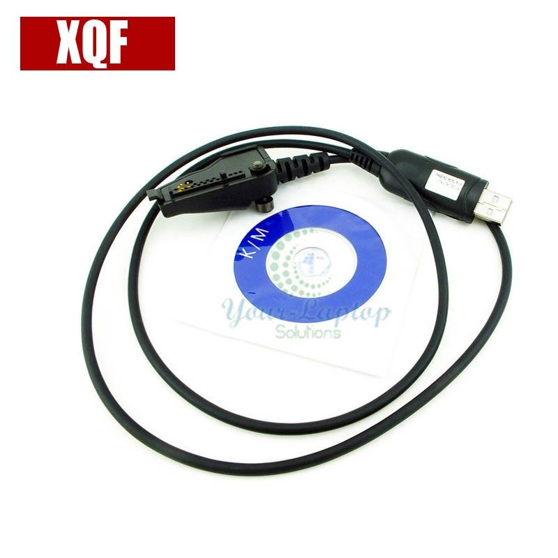 XQF 10PCS  New USB Programming Cable For Kenwood NX-200 NX-210 NX-300 NX-410 NX-411 Radio