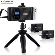 Smartphone senza fili Microfono Comica CVM WS60 Dual Lavalier Risvolto Microfono di Sistema per iPhone Sumsang Telefoni Huawei/Macchina Fotografica