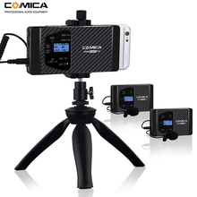 Wireless Microphone Comica CVM-WS60 Dual Lavalier Lapel System for iPhone Smartphones Canon Nikon Camera