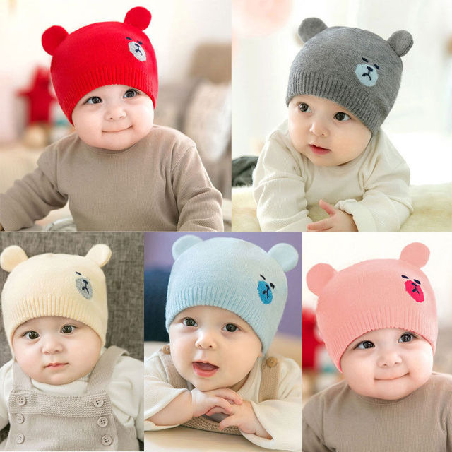 hot baby photography props Cute Kid Baby Boy Girl Toddler Infant Hat Bear Baseball  Cap cotton kids hats baby bonnet topi bayi 0088f16573c