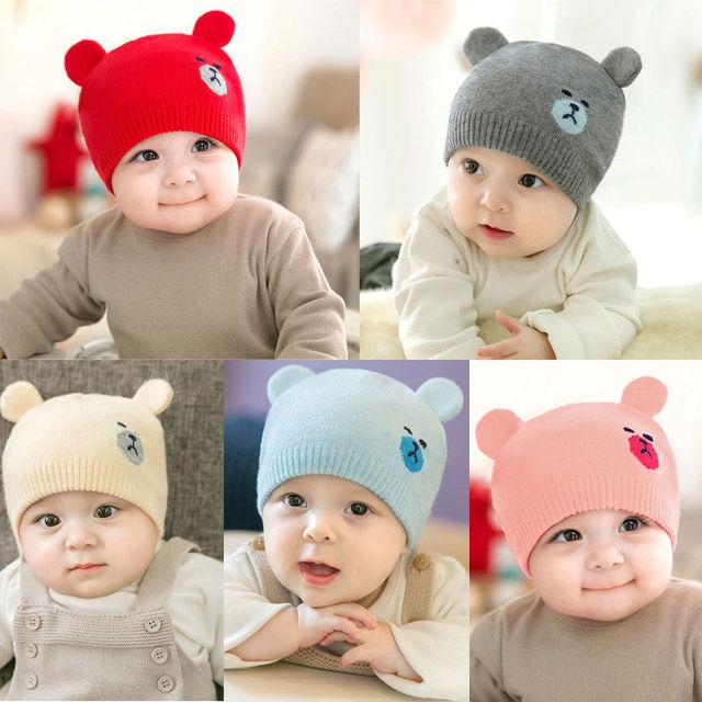 0216a738bd5 hot baby photography props Cute Kid Baby Boy Girl Toddler Infant Hat Bear  Baseball Cap cotton kids hats baby bonnet topi bayi