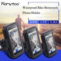 Waterproof Bike Motorcycle Phone Holder Mount For Huawei Samsung IPhone LG Smartphone GPS Universal Mobile Phone