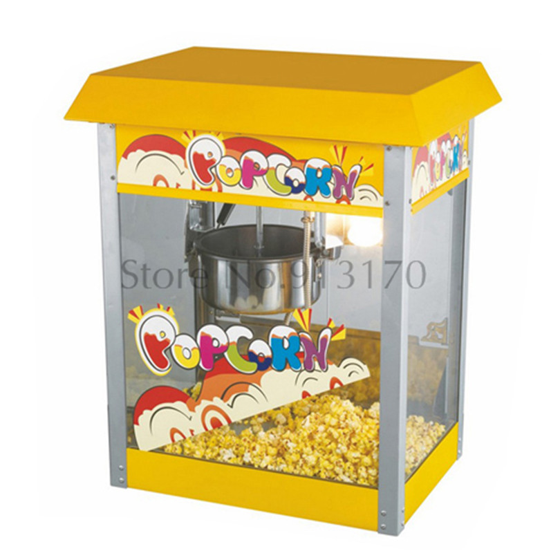 Rooftop Commercial Popcorn Machine Electric Popcorn Maker Stainless Steel Popcorn Pot pop 06 economic popcorn maker commercial popcorn machine with cart