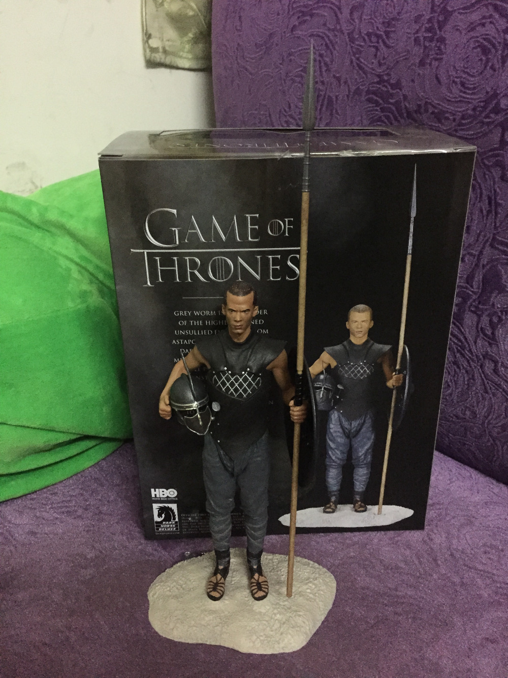 ORIGINAL 2016 NEW Movies Game of Thrones Action Toy Figures Grey Worm Doll Vinyl figures Collection Toy PVC kids toys 12pcs set new sofia the first figures toys princess sofia action figure pvc doll brithday gift toy for children kids toys