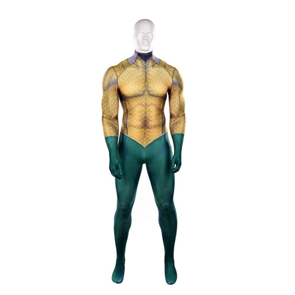 Movie Aquaman Cosplay Costume Superhero Arthur Curry Orin Kids Adults Zentai Bodysuit Suit Jumpsuits Free Shipping