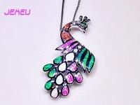 Toptan ve Perakende Moda Takı Güzel Kadınlar Için Çok Yangın Opal Taş Tavuskuşu Şerit Kolye PJ16061904