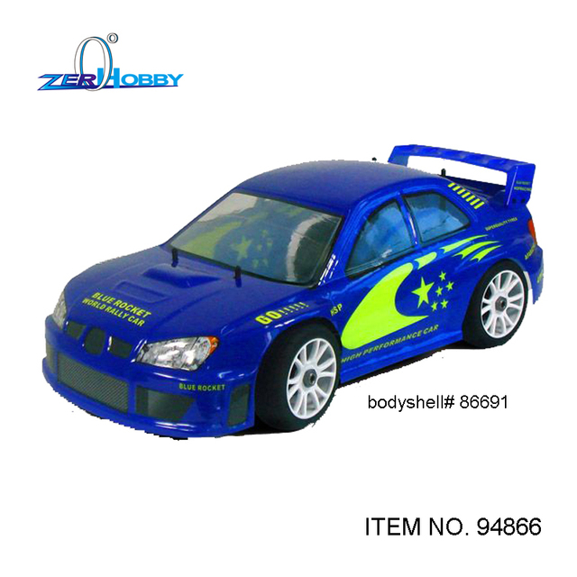 HSP RC CAR TOYS 1/8 AZUL FOGUETE 4WD NITRO 20CXP ALIMENTADO ON ROAD RALLY CAR RACING de ALTA VELOCIDADE DO MOTOR (ITEM no. 94866)
